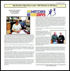 """Westside Bulletin features """"100 Matches in 100 Days"""" in August Issue"""